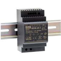 HDR Series 15-100 W Ultra-Slim Step-Shape DIN Rail